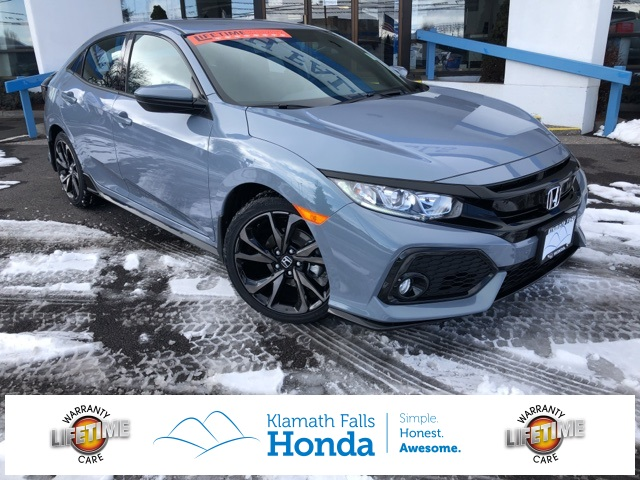 New 2019 Honda Civic Sport 4d Hatchback In Klamath Falls Hku407859